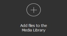 "Open one or several files by clicking the button ""Add files to the library"""
