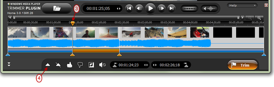 How to edit your video and audio within Windows Media Player™