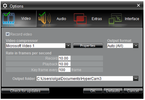 How to achieve good video quality using HyperCam