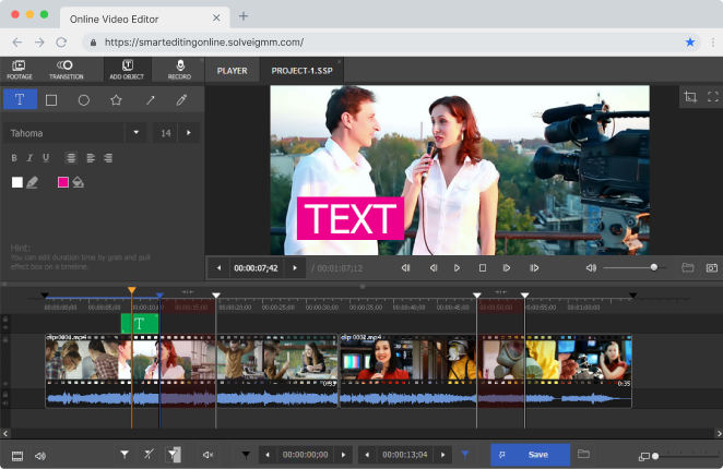 ⛔ Professional video editing software online | Video
